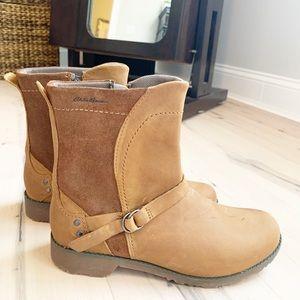 EDDIE BAUER covey leather riding boots Sz 8.5 EUC!